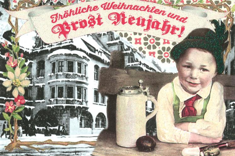 Weihnachtskarte vom Brautpaar
