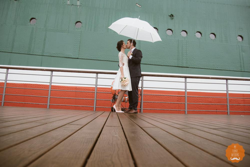 Hochzeit auf der Rickmer Rickmers im Hamburger Hafen